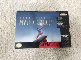 Super Nintendo SNES game final fantasy mystic quest