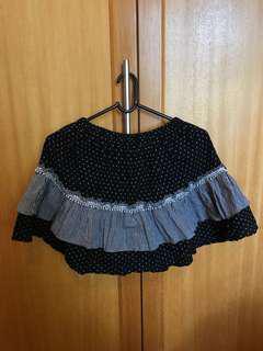 Monochrome Polkadot & Checked Skirt
