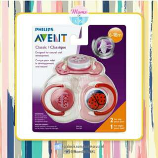 "‼️NEW‼️AVENT Classic Pacifier ""Value Pack"" 3pcs (PINK)"