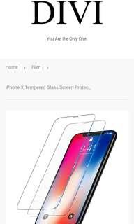iPhone X 9H鋼化玻璃屏膜保護貼(防指紋)