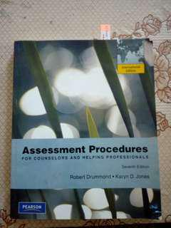 Assessment Procedures For Counselors Helping Professionals