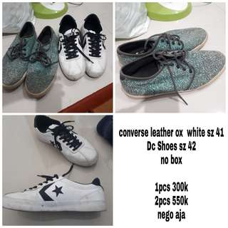 Converse leather ox & DC shoes
