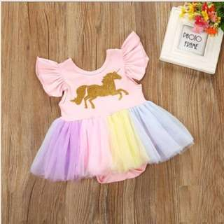 Unicorn Pastel Tutu Romper Dress