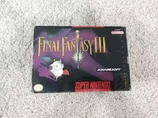 Super Nintendo snes game final fantasy ii