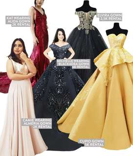 Ball gown for rent debut wedding prom