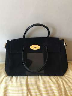 Mulberry bayswater in midnight blue