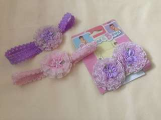 Garter fashion headband for kids babies up to 1yr old
