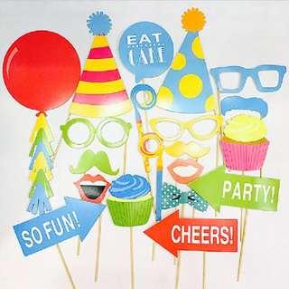 Happy Birthday photo props