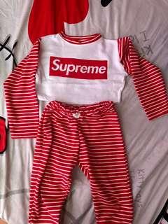 Pajama/Crop Top Terno