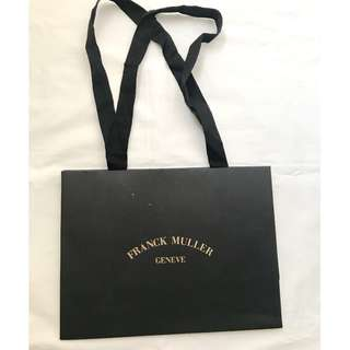 Franck Muller small paper shopping bag 購物紙袋