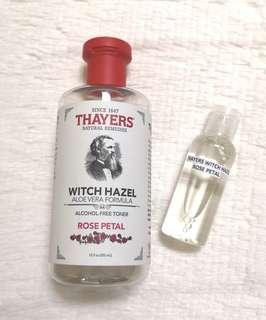 50ML THAYERS WITCH HAZEL TONER