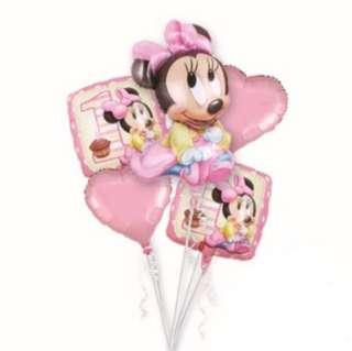 Minnie Mouse balloon set