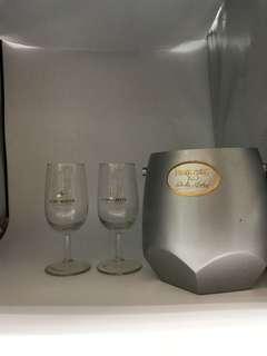 人頭馬酒杯1對+軒尼斯冰桶