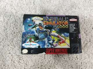 Super Nintendo snes game baseball simulator 1.000