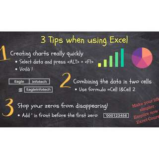 Microsoft Excel 2016 Courses (Basic to Advanced level available!)