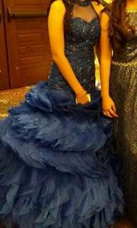 NEGOTIABLE !! Royal Blue Mermaid Gown