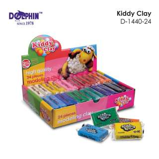 Dolphin - D-1440-24 Kiddy Clay Set with 12 colors 24 pieces