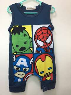 🚚 Cartoon Baby Romper