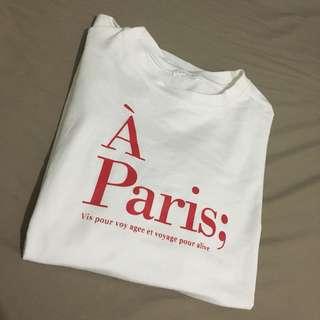 正韓字母短袖T恤