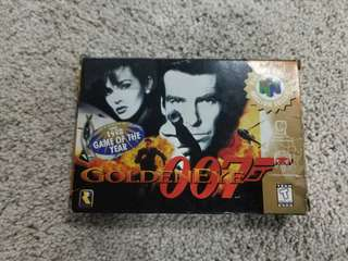 Nintendo 64 game goldeneye 007 n64