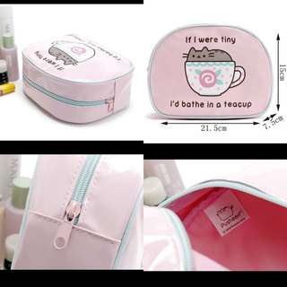 日本可愛小貓咪🐱鏡面革PVC大容量收納化妝包📮包郵
