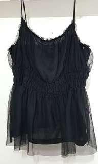 H & M Lace top black