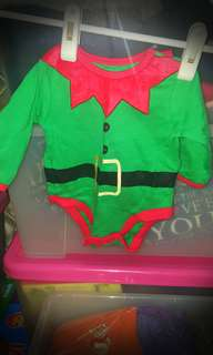 Cute little elf romper for xmas
