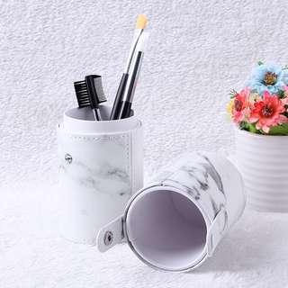 🚚 make up brush marble storage casing