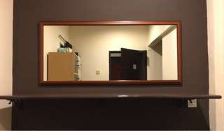 Wall Mirror & Solid Table Top