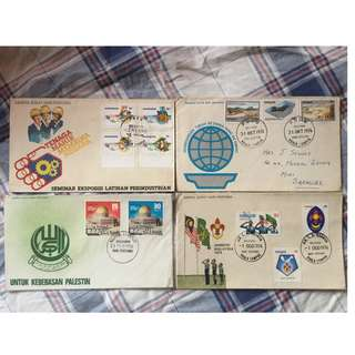 First Day Cover 4Sets