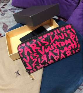 Guaranteed authentic lv wallet limited edition grafitti