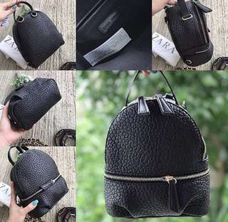 Zara multifunction backpack 100% ori and ready