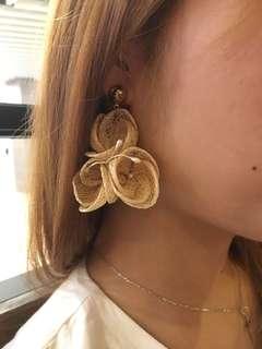 復古花 韓國耳環
