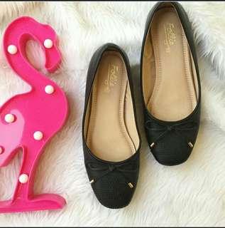 FOLLIE black doll shoes