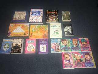 Assorted books (prices starting from $3)