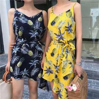 Pineapple asymmetrical Dress