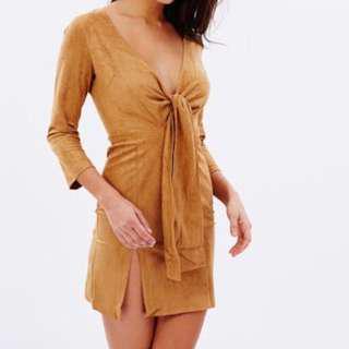 LIONESS Suede brown dress 6