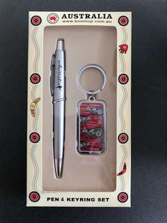 Australia pen and key chain