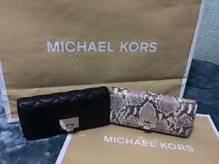 MK snake skin wallet