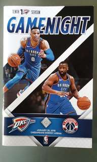 Oklahoma City Thunder Gameday Booklet