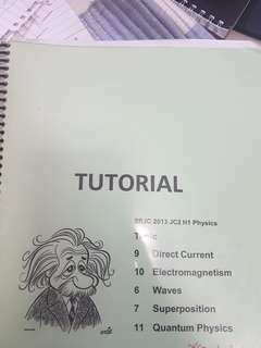 H1 physics tutorial book