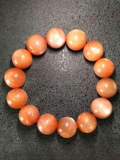 AAA United States Sunstone Round Beads 15mm Bracelet