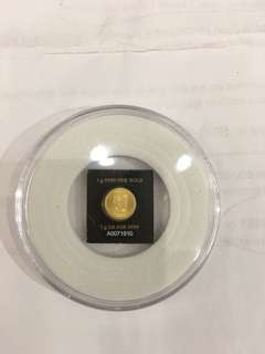 MONNAJE ROYALE CANADIENNE 1g9999Fine Gold 1g OR PUR 9999