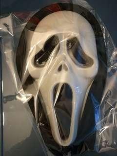Masks x 4, skeleton hands x 2 and Dracula teech x 7