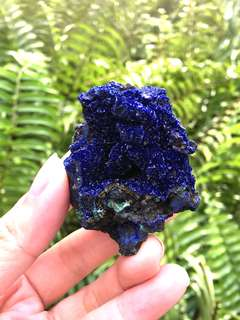 Azurite and malachite raw stone