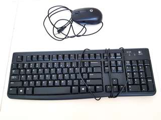 Logitech keyboard with HP mouse set
