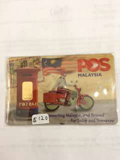 Pls Malaysia Goldcertificate 9999 Weight 1g