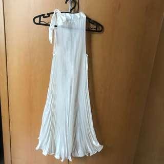 (Preloved) no brand ruffle white dress