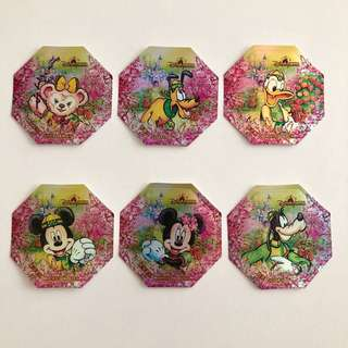 迪士尼樂園 新年貼紙系列 6款