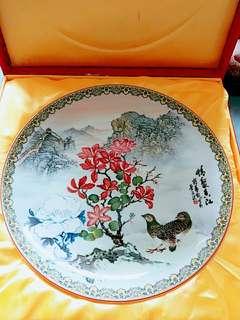 山水花鳥擺設瓷碟